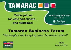 POSTCARD - SAVE THE DATE CHAMBER FORUM 5-20-14  -