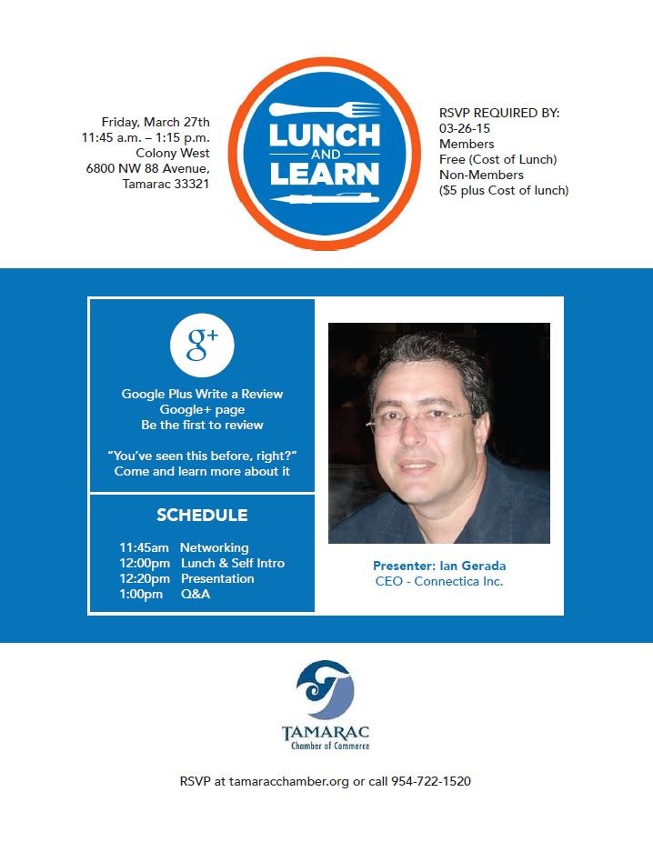 Lunch & Learn March 2015
