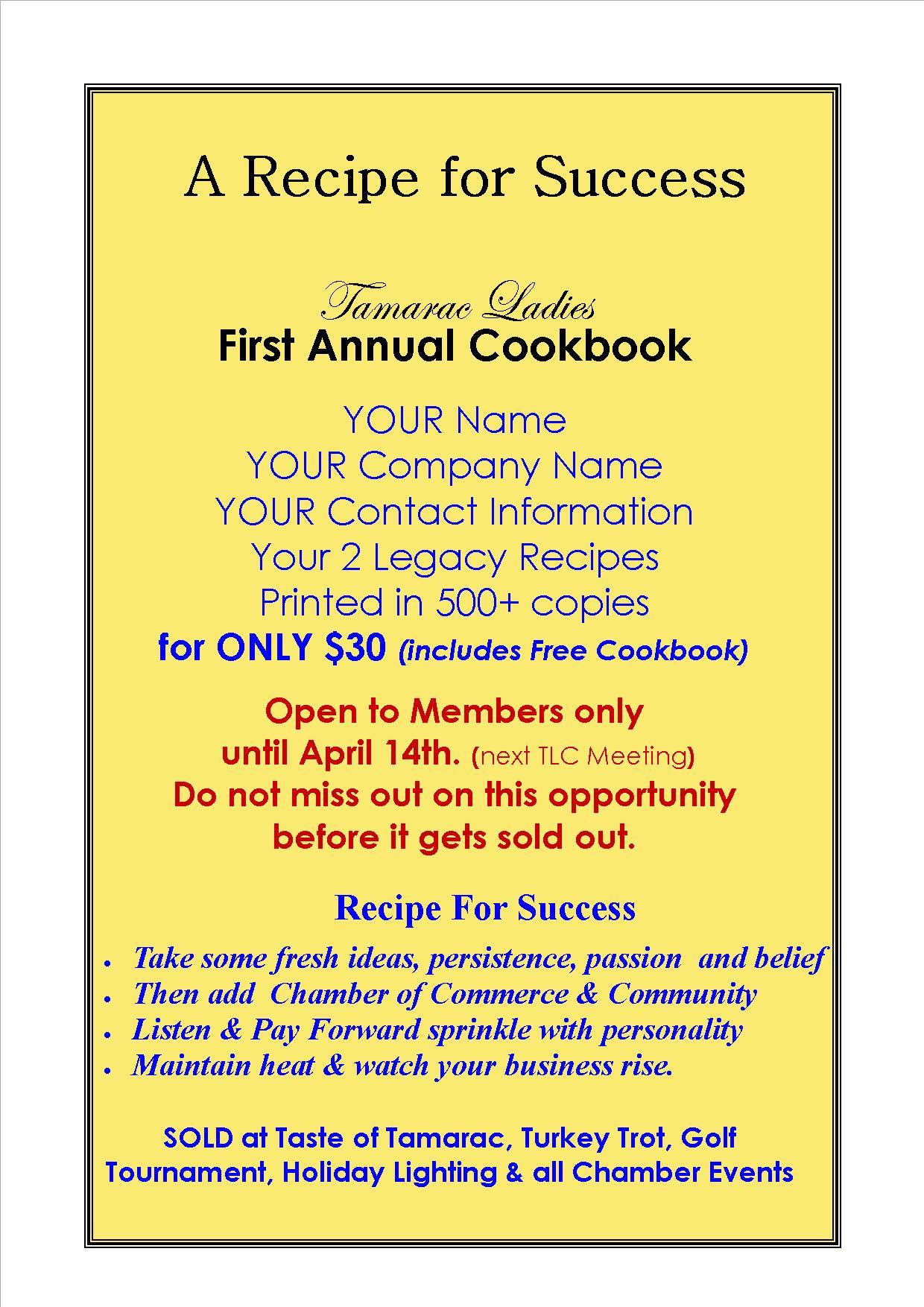 cookbook Ladies lunch flyer2