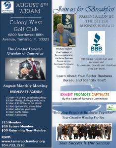 August Breakfast @ Colony West | Tamarac | Florida | United States