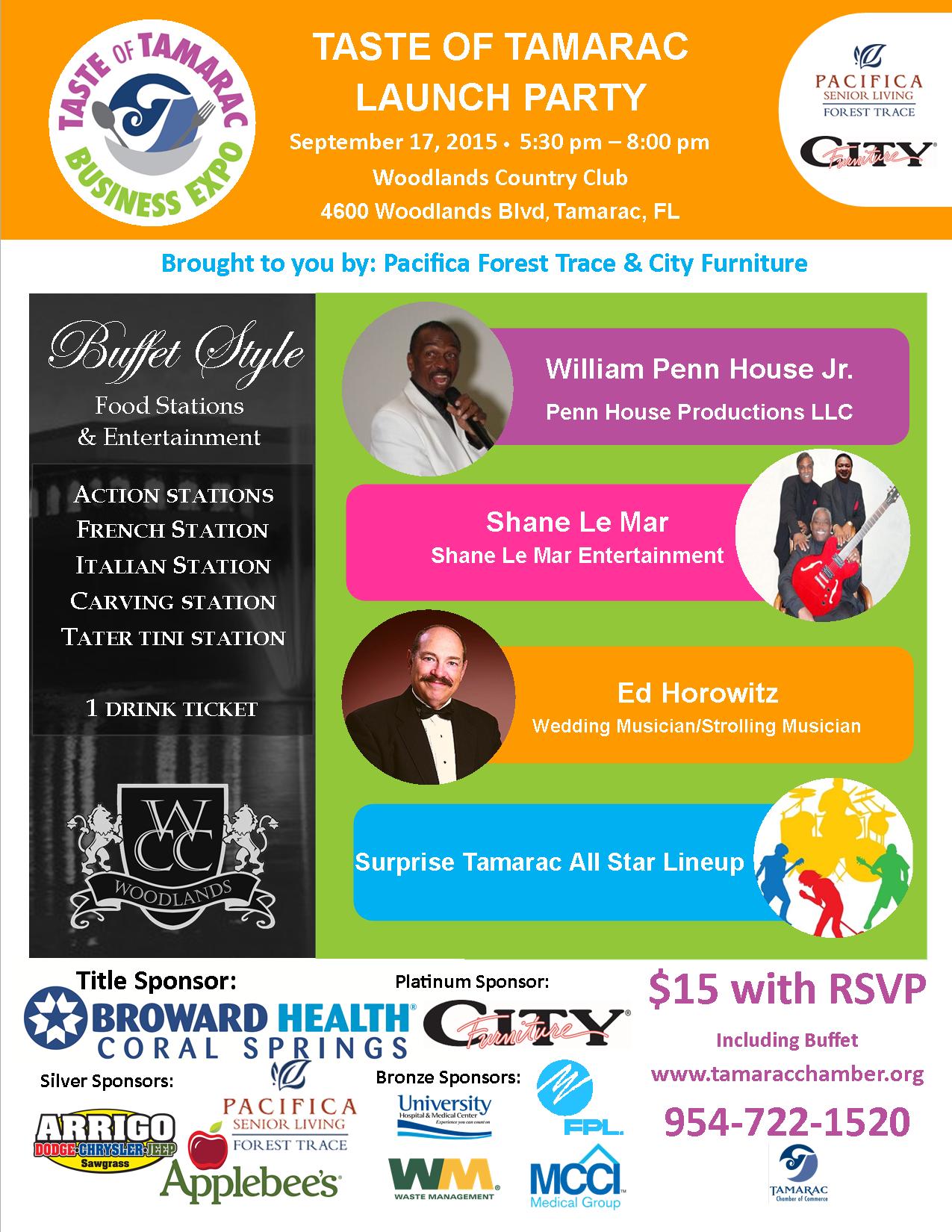 Tamarac Launch Party 2015 flyer