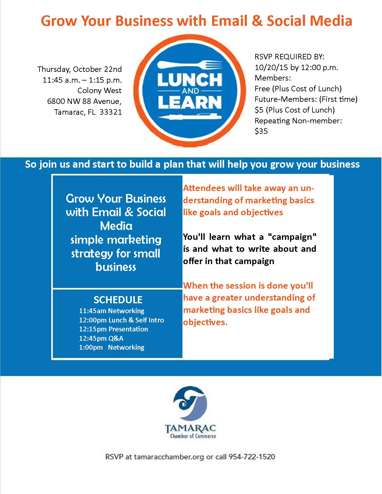 Lunch & Learn October 2015