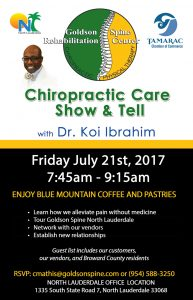 Coffee Morning at Goldson Spine @ Goldson Chiropractic & Rehab Center | North Lauderdale | Florida | United States