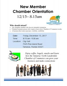 New Member Orientation @ Chamber Office | Tamarac | Florida | United States