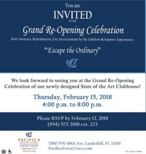 Grand Re-Opening @ Pacifica Forest Trace Senior Living | Lauderhill | Florida | United States