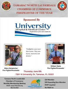 Firefighter of the Year Breakfast June 6th @ University Hospital and Medical Center