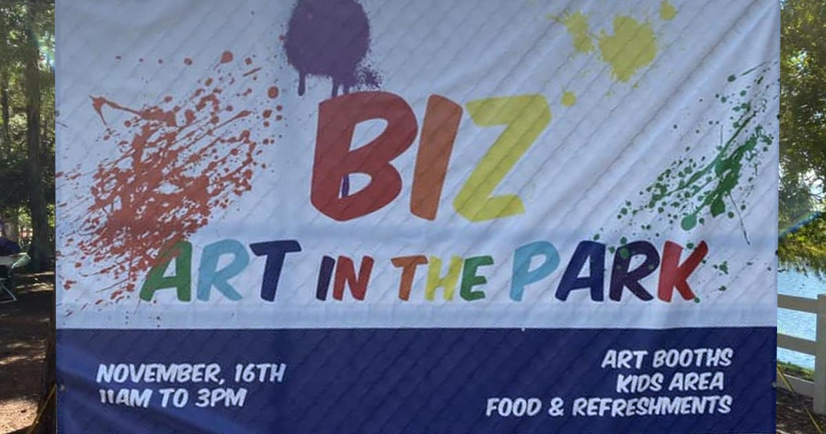 biz art in the park 2019