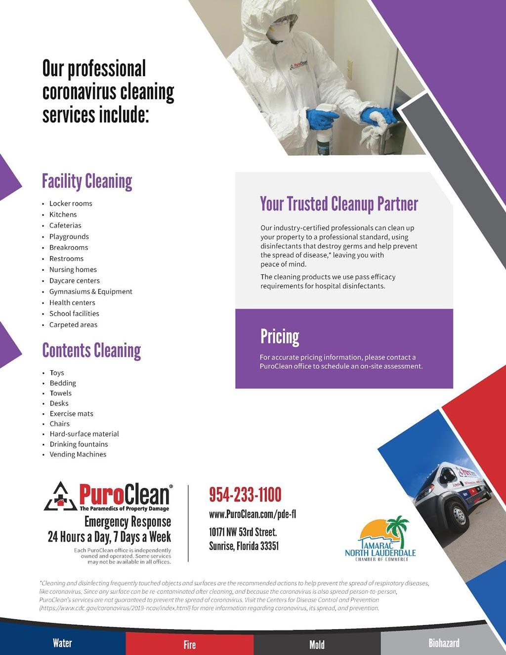 coronavirus clean up services