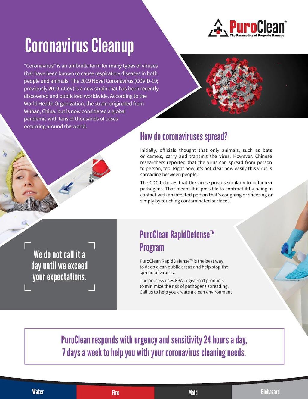 coronavirus cleanup services